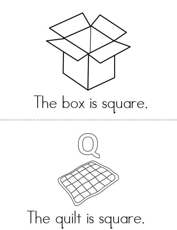 My Square Book Mini Book - Sheet 2