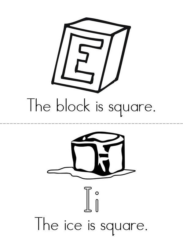 My Square Book Mini Book - Sheet 3