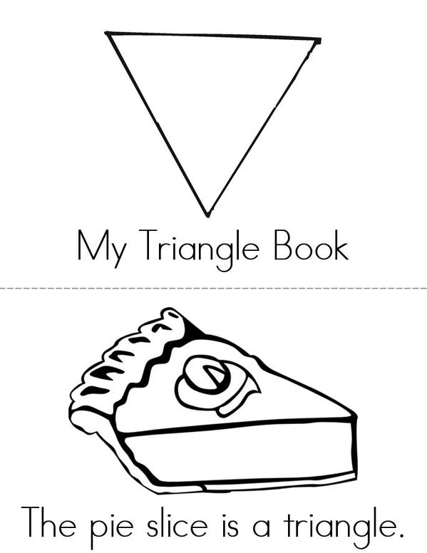 My Triangle Book Mini Book - Sheet 1