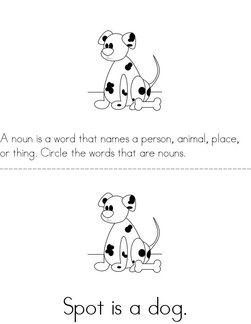 Circle the Nouns Book