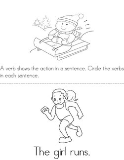 Circle the Verbs Book