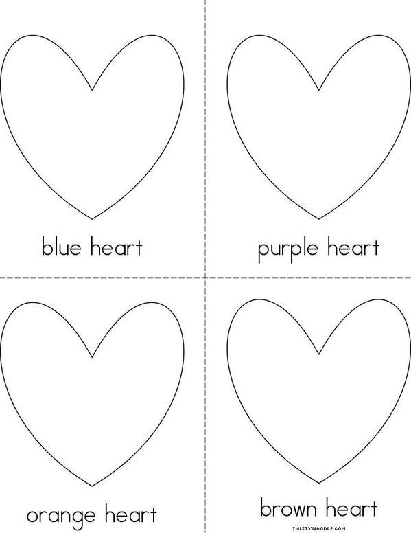 Heart Colors Mini Book - Sheet 2