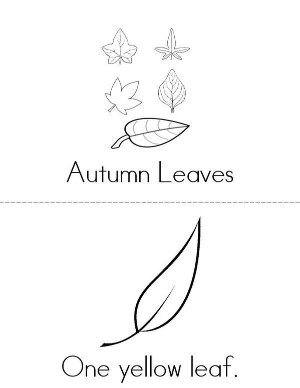 Autumn Leaves Mini Book - Sheet 1