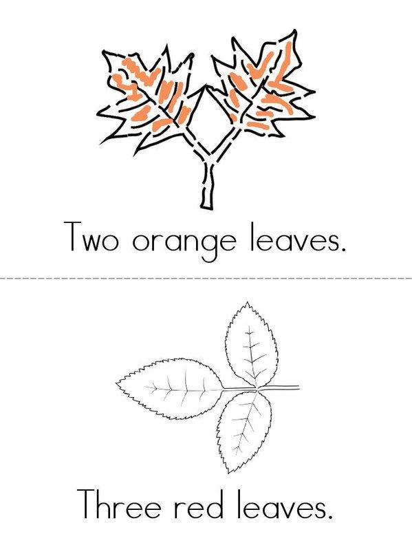 Autumn Leaves Mini Book - Sheet 2