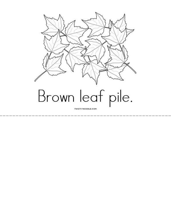 Autumn Leaves Mini Book - Sheet 3