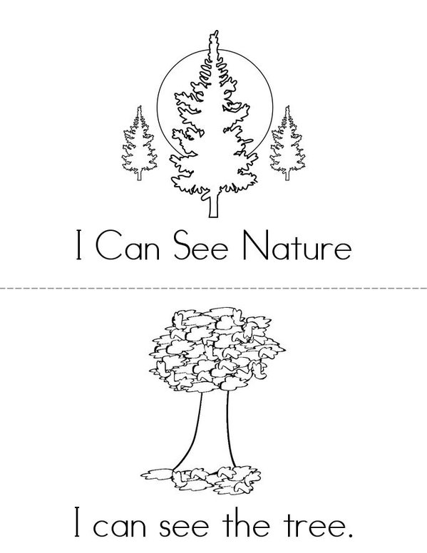 I Can See Nature Mini Book - Sheet 1