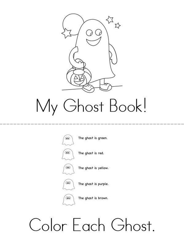 My Ghost Book Mini Book - Sheet 1