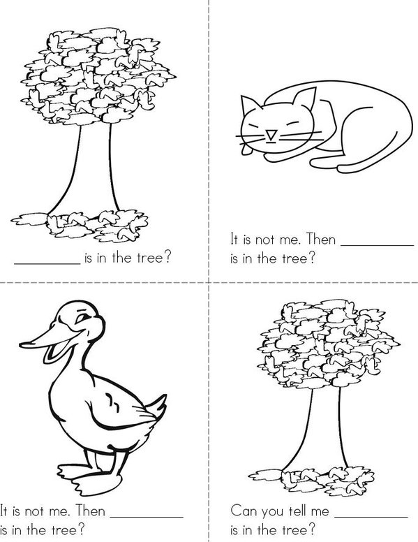 Who is in the tree? Mini Book - Sheet 1