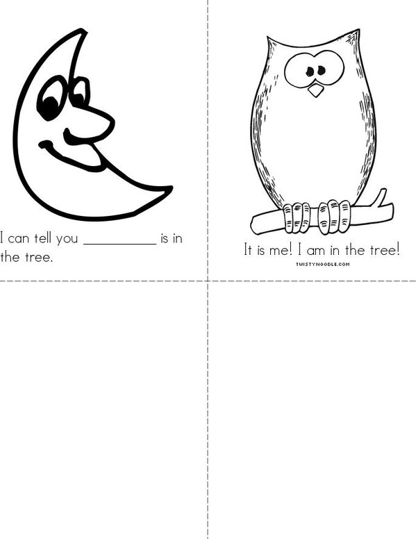 Who is in the tree? Mini Book - Sheet 2