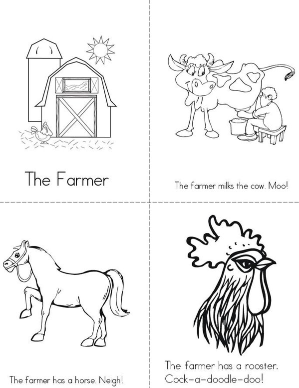 The Farmer Mini Book - Sheet 1