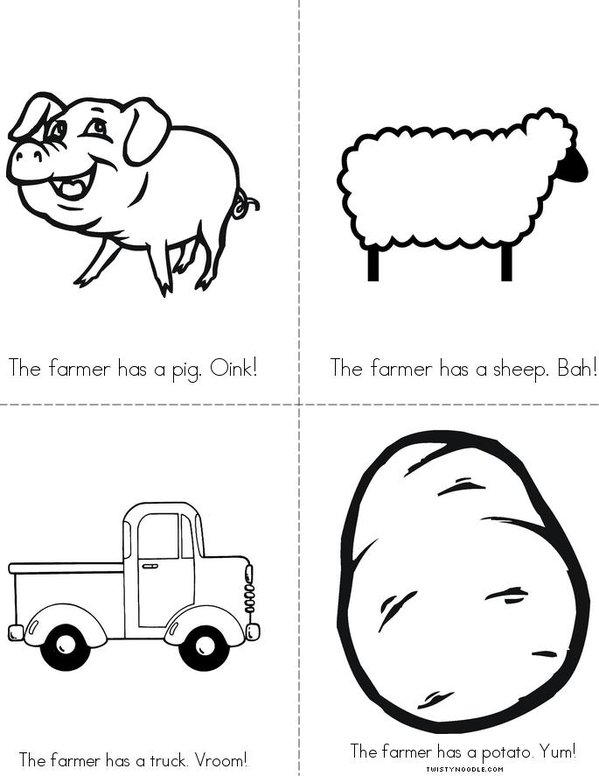 The Farmer Mini Book - Sheet 2