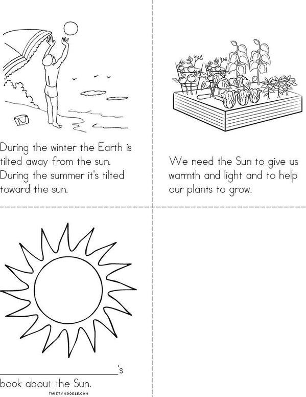 The Sun Mini Book - Sheet 2