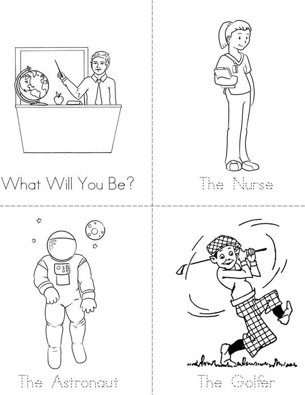 Career Day Mini Book - Sheet 1