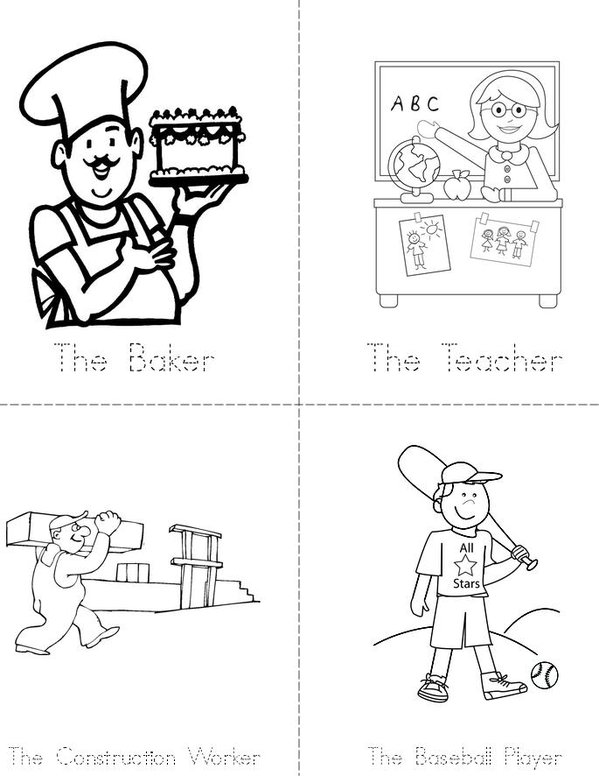 Career Day Mini Book - Sheet 2