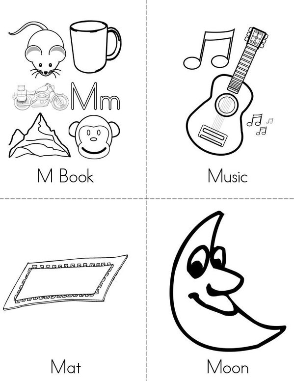M Book Mini Book - Sheet 1