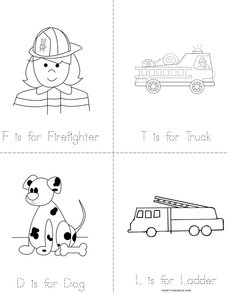 F is for Firefighter Book