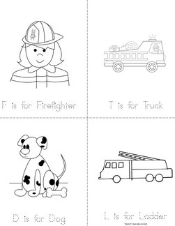 Fire Safety Mini Coloring Book | Coloring Pages