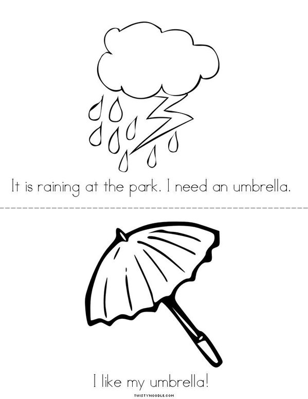 At the park... Mini Book - Sheet 3