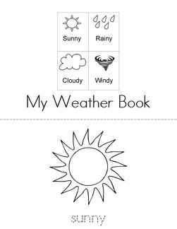 Weather Words Book