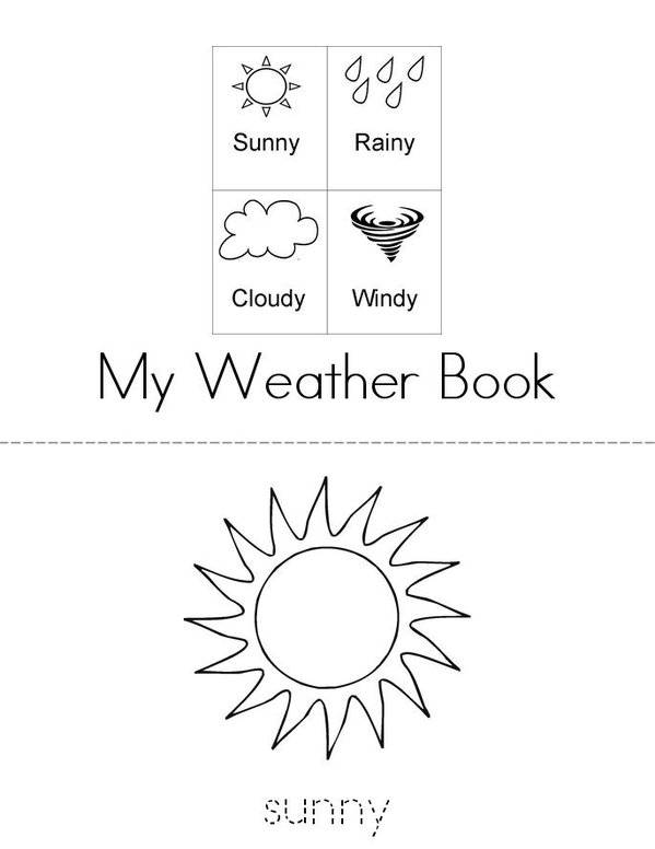 Weather Words Mini Book - Sheet 1