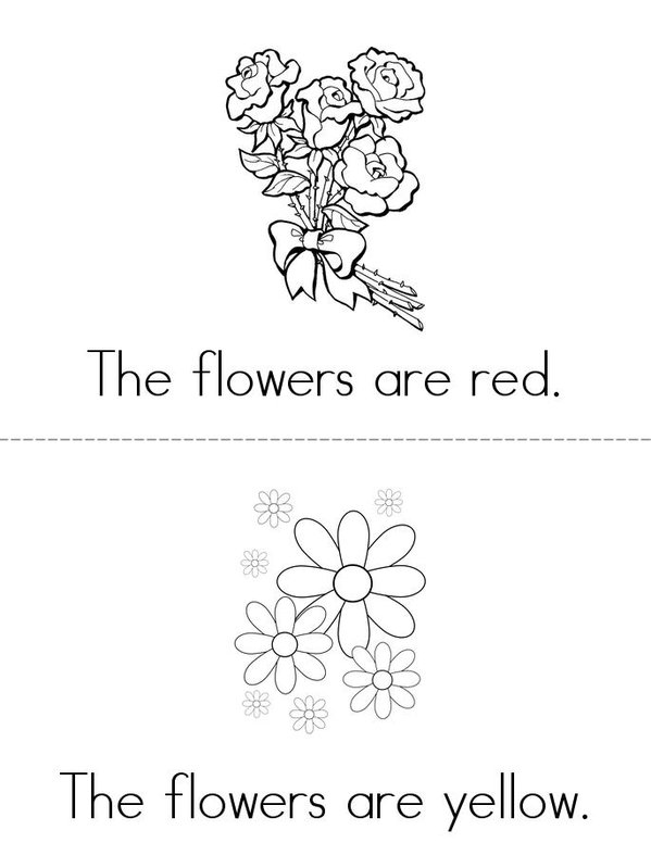 Flowers Mini Book - Sheet 1
