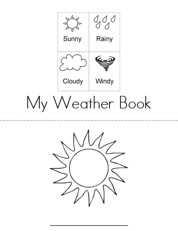Write the weather word Mini Book - Sheet 1