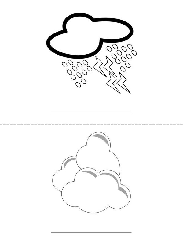 Write the weather word Mini Book - Sheet 2