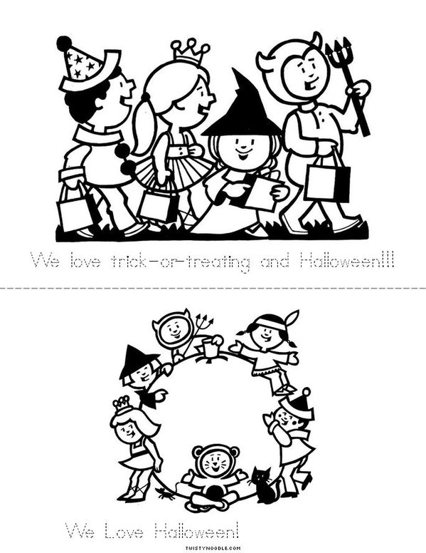 We love Halloween! Mini Book - Sheet 4