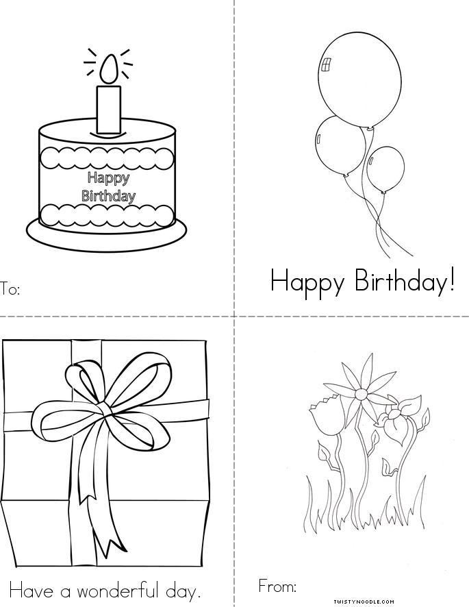 Happy Birthday Book - Twisty Noodle