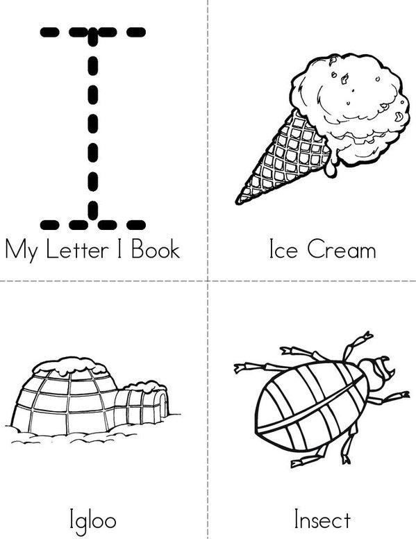 My Letter I Book Mini Book - Sheet 1