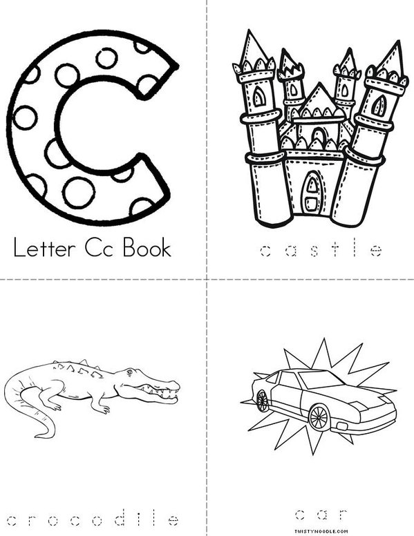 Letter c book Mini Book