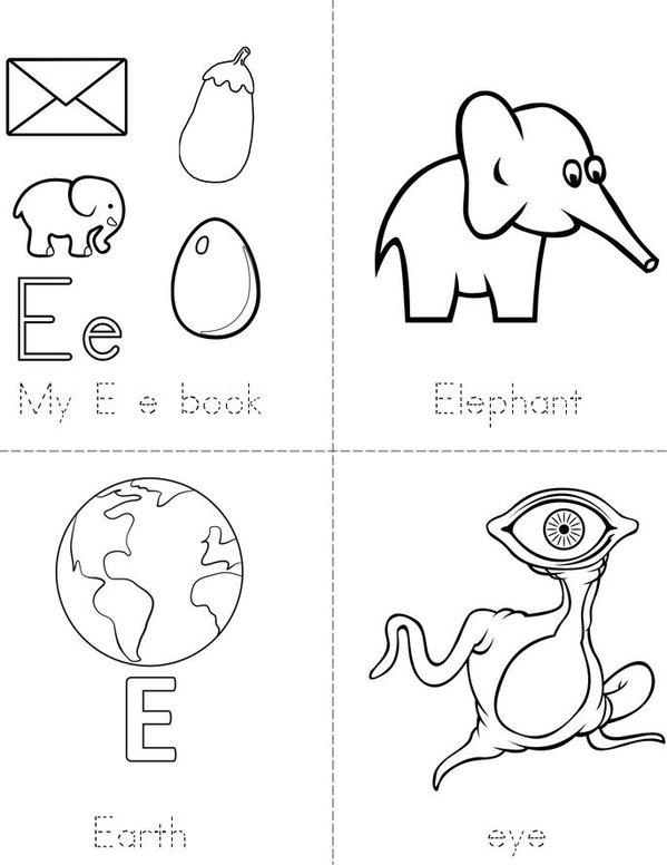 My E e Book  Mini Book - Sheet 1