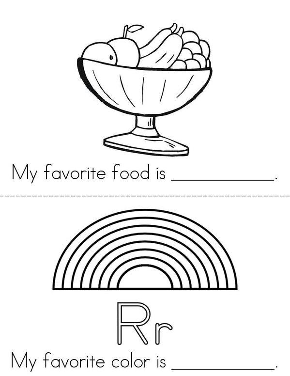 My Favorites (girl) Mini Book - Sheet 2