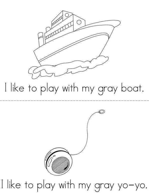 I Like to Play (gray) Mini Book - Sheet 2