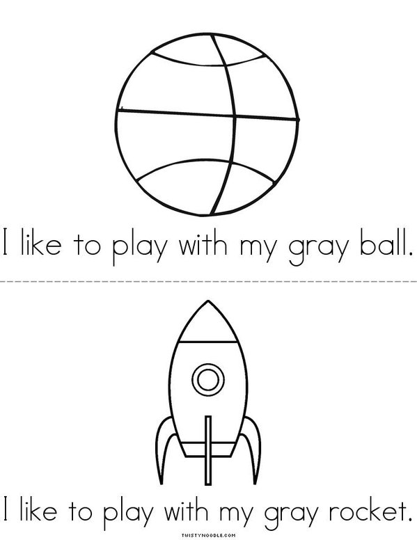 I Like to Play (gray) Mini Book - Sheet 3