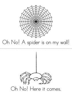 I dont like spiders ! Book