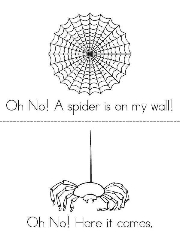 I dont like spiders ! Mini Book - Sheet 1