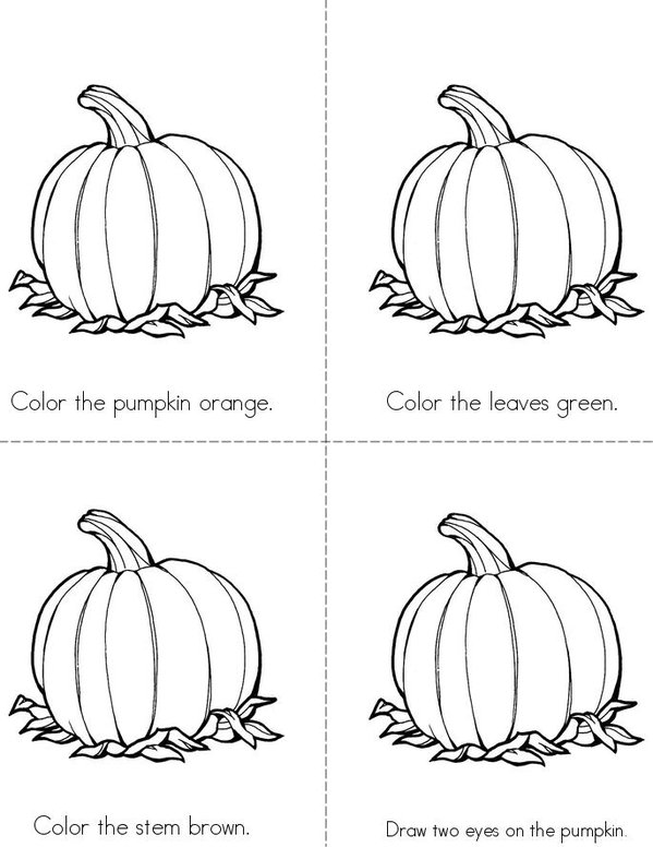Jack-o'Lantern! Mini Book - Sheet 1