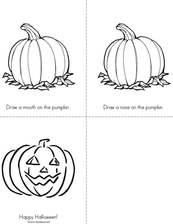 Jack-o'Lantern! Mini Book - Sheet 2