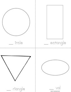 Shapes (fill in the missing letter) Book