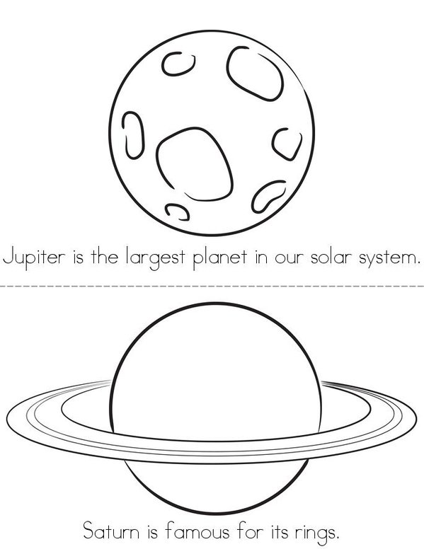 Our Solar System Mini Book - Sheet 4