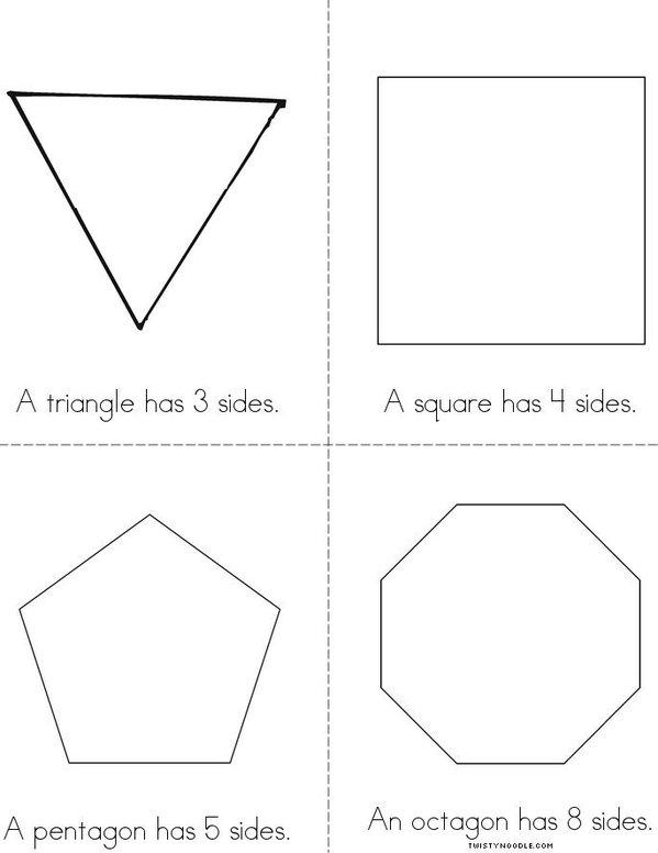 Shape Sides Mini Book