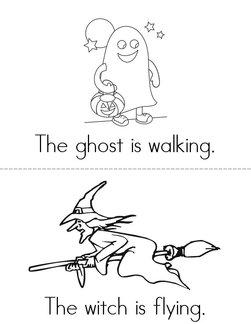 Halloween Verbs Book