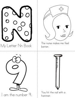 My Letter Nn Book