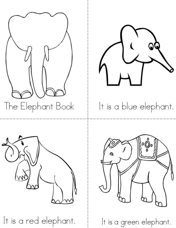 The Elephant Book Mini Book - Sheet 1