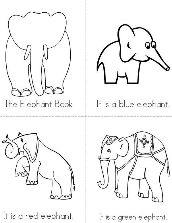 The Elephant Book Mini Book - Sheet 1