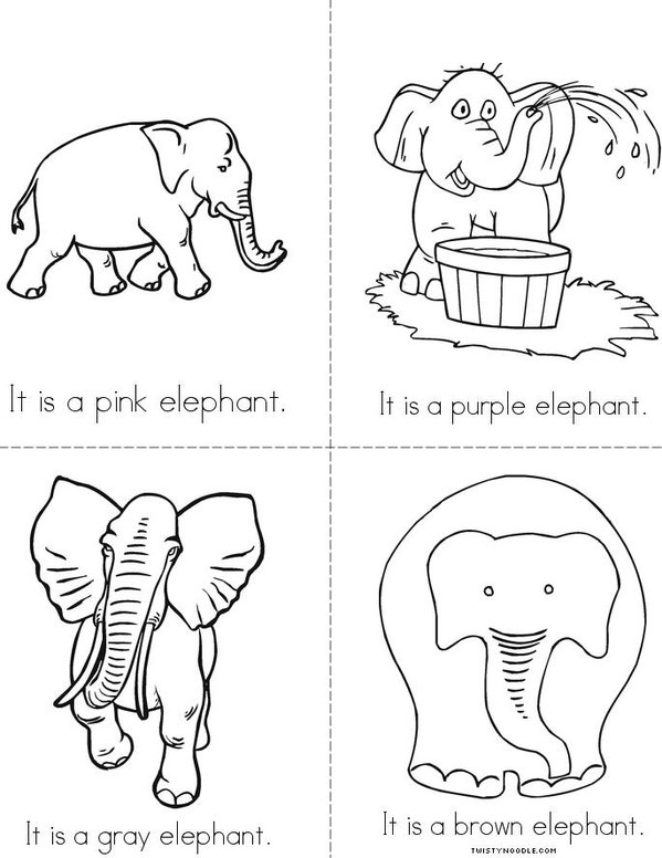 The Elephant Book Mini Book - Sheet 2