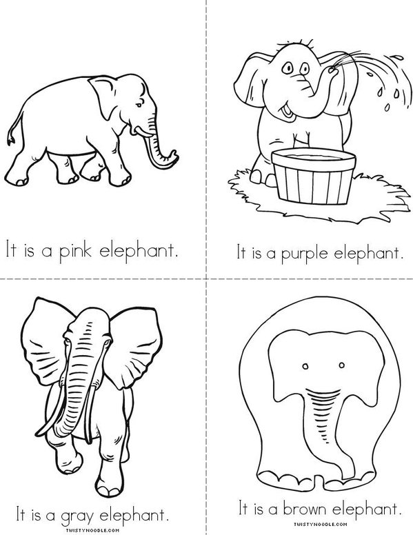 The Elephant Book Mini Book - Sheet 3