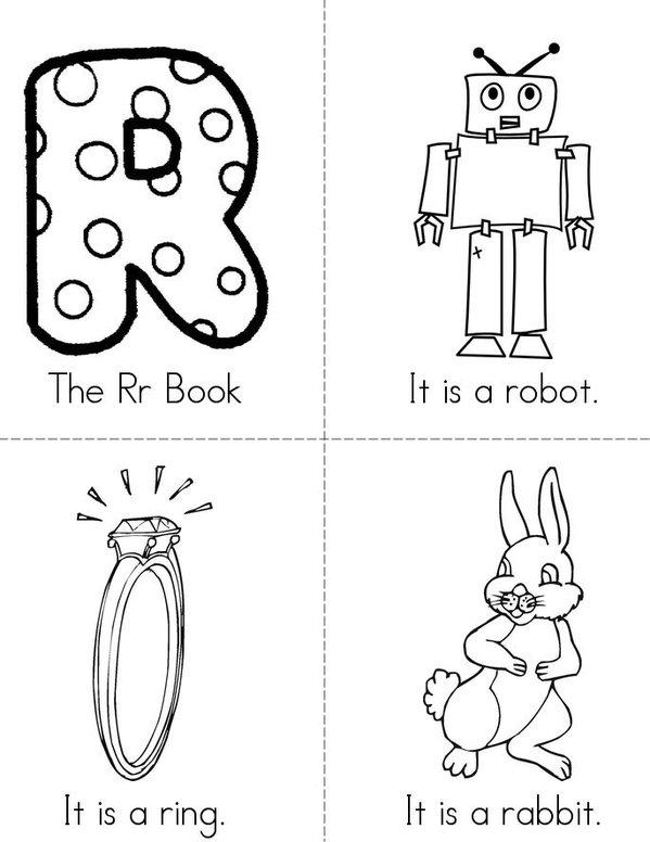 The Rr Book Mini Book - Sheet 1