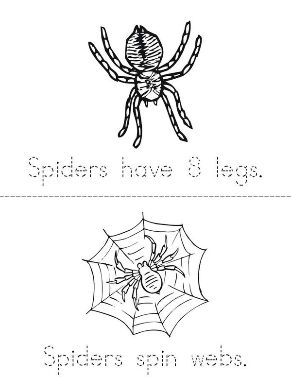 My Spider Book Mini Book - Sheet 1